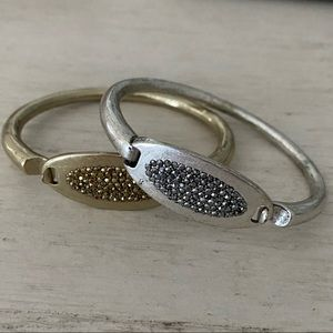 Lucky Brand bracelets silver and gold